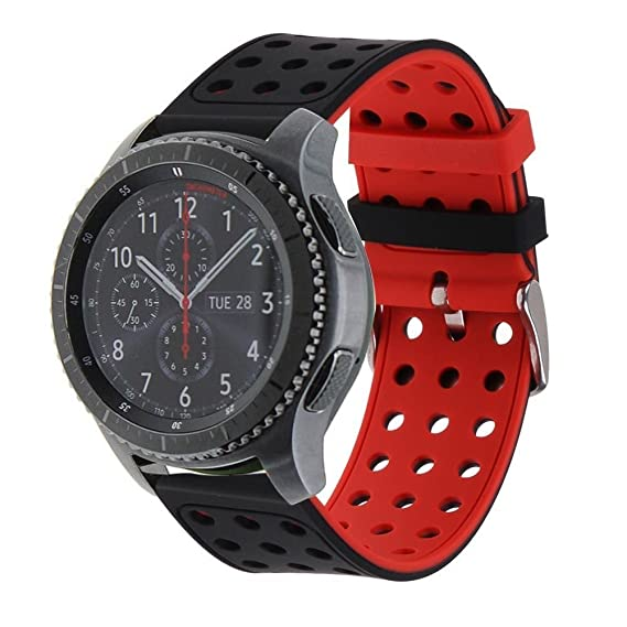 Gear S3 Frontier / Classic Watch Band, BESTeck Soft Silicone Replacement Sport Strap for Samsung Gear S3 Frontier / S3 Classic / Moto 360 2nd Gen 46mm ...