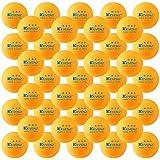 KEVENZ 50-Pack 3-Star 40mm Orange Table Tennis Balls, Advanced Ping Pong Ball (Orange)