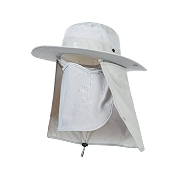 4195a19b11c Hisea Fashion Summer Outdoor Sun Protection Fishing Cap Neck Face Flap Hat  Wide Brim  Amazon.co.uk  Sports   Outdoors