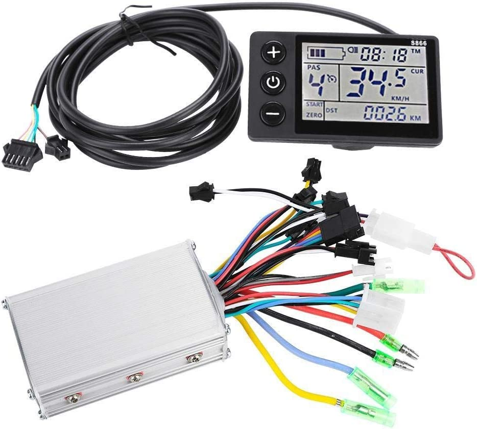 Controlador de motor, 36V-48V impermeable LCD Display Panel Kit controlador del scooter bicicleta eléctrica (tamaño : 24V/36V 250W/350W)