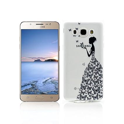 Funda Samsung Galaxy J7 2016 SM-J710F Carcasa Protectora OuDu Funda para Samsung Galaxy J7 2016 SM-J710F Caso Silicona TPU Funda Suave Soft Silicone ...