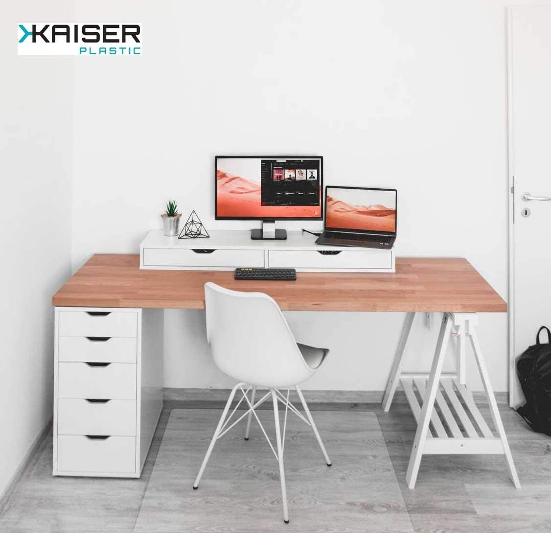 90 x 120 cm KAISER PLASTIC/® Xtra Strong Made-In-Germany Hartboden Bodenschutzmatte
