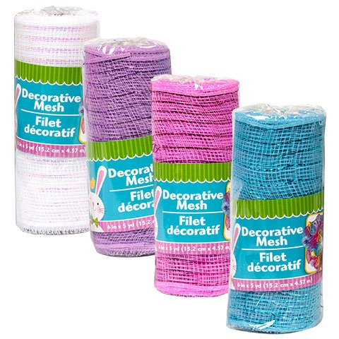 Easter Pastel Craft Home Decor Decoration Decorative Valentine Mesh, 5-yd. Rolls