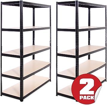 2 x 120 x negro antipelusas garaje carcagor invernadero Storage Racks estanterías 875 kg foreceast, libre bahía conectores, 5 años de garantía: Amazon.es: Bricolaje y herramientas