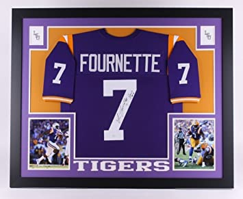 f706d0bac Image Unavailable. Image not available for. Color  Leonard Fournette  Autographed Signed Lsu Tigers 35x43 Deluxe Framed Jersey ...