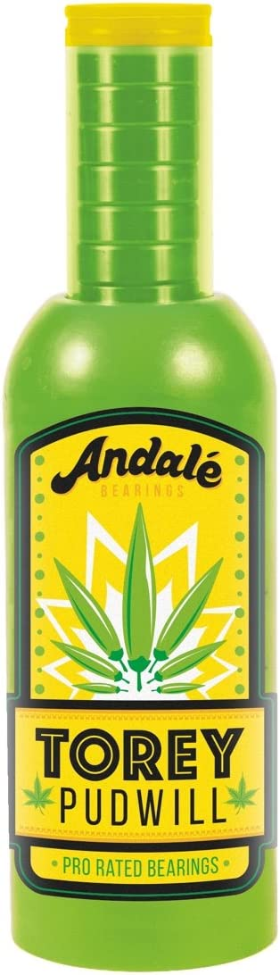 Andale Skateboard Bearings Pudwill Green Sauce Wax and Bearing Set