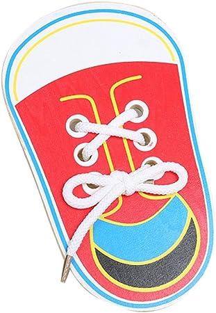 Enfants en Bois Laçage Chaussures Enfant Enseignement Tie Lacets
