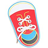 Everpert Children Wooden Lacing Shoes Toddler Kids Teaching Tie Shoelaces Toys
