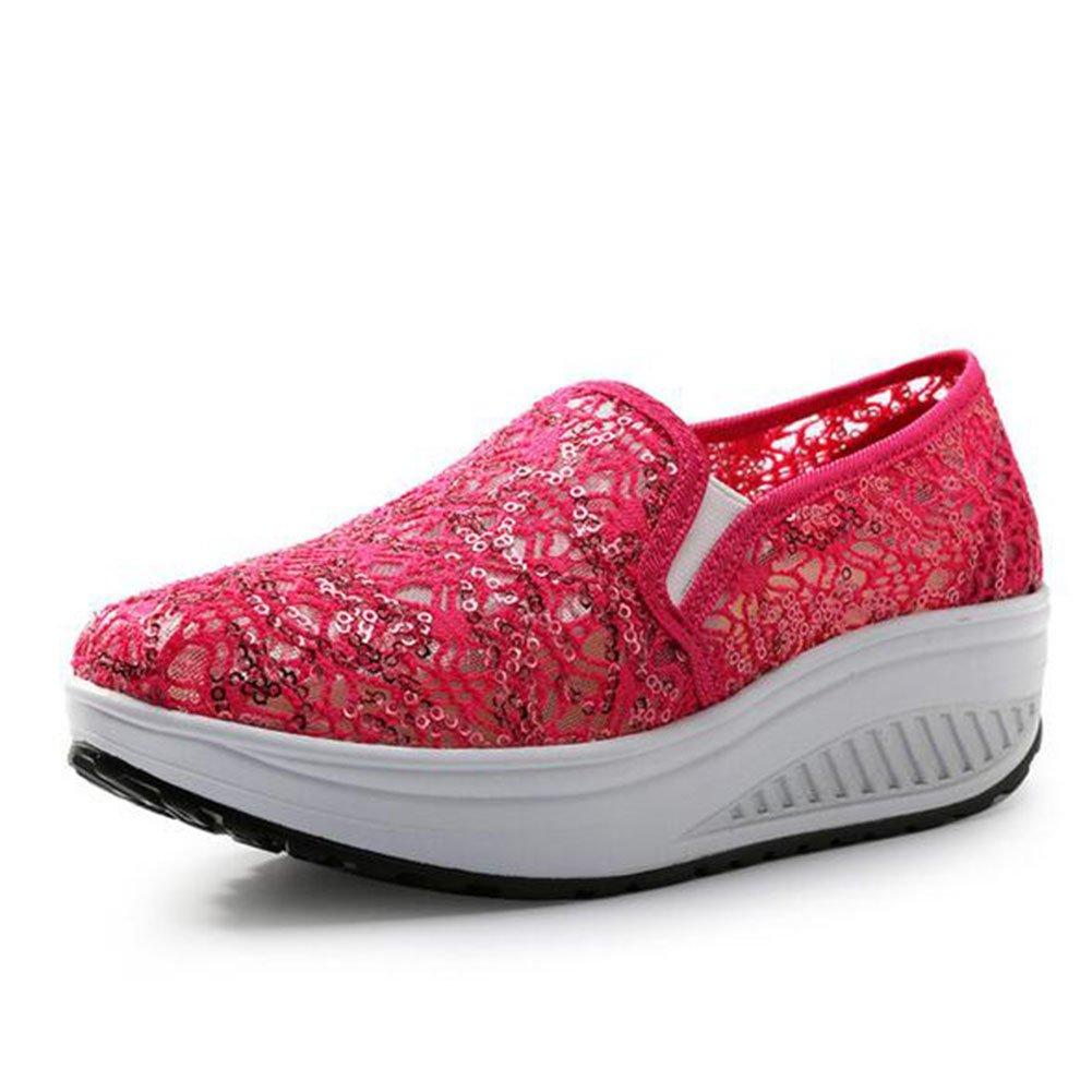 Zapatos Casuales de Las Mujeres, Zapatos de la Sacudida Zapatos de Plataforma Huecos del Verano/Zapatos de la Agitación del (Color : 02, Tamaño : 39) 39 02