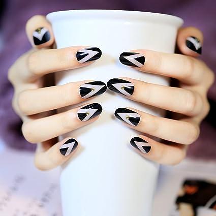 jovono Oval completo uñas postizas Tips Uñas Postizas Para Las Mujeres y Las Niñas