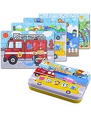 BBLIKE Puzzles de Madera, Rompecabezas de Madera Jigsaw Toy en una Caja para niños, Herramienta de Aprendizaje Educativo cumpleaños para niñas