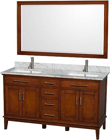 Wyndham Collection Hatton 60 Inch Double Bathroom Vanity In Light