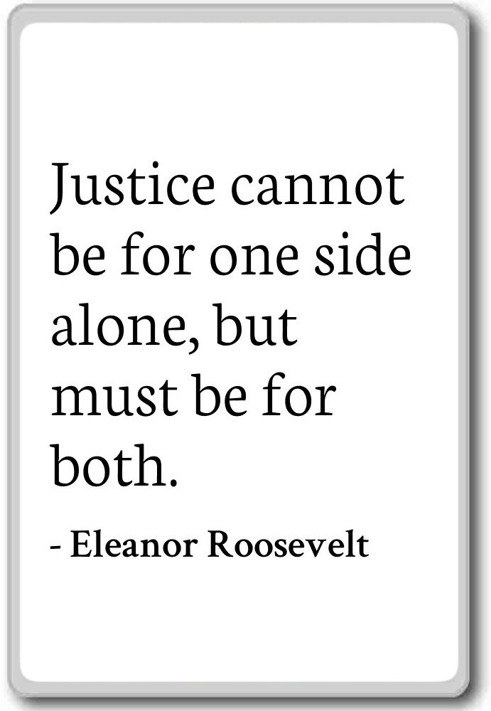 Amazon Justice Cannot Be For One Side Alone But Eleanor
