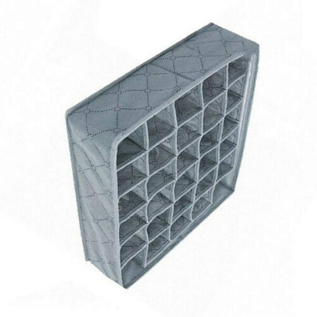 herencn Aufbewahrungsbox f/ür Unterw/äsche und Socken 30 Grids Frei trennbare BHS Unterw/äsche Socken Aufbewahrungsbox Schubladeneins/ätze