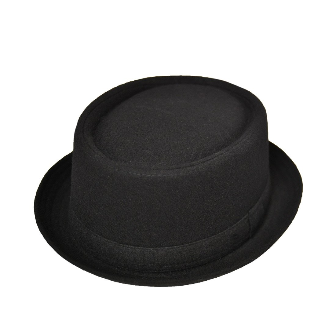 Earland Brothers Unisex Black Pork Pie Hat Wool Mix Soul Ska Breaking Bad Hat