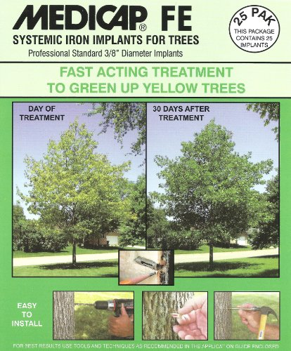 Medicap 25-Pack FE Systemic Iron Tree Implants for Control of Iron Chlorosis, 3/8-Inch ()