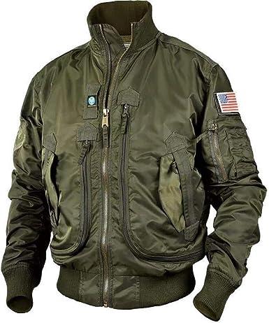 Men/'s Bomber Jacket Tactical Jackets Mens MA1 Army Multi-pocket Waterproof Coats