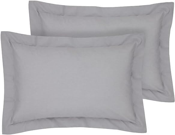 Rayyan Linens Oxford - Juego de 2 fundas de almohada (50 x 75 cm ...