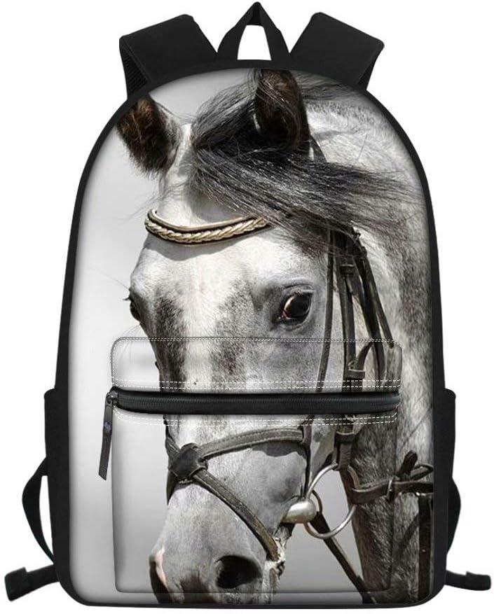 MODEGA Mochila de viaje para niñas, diseño vívido, mochila para estudiantes con cremallera para niños, regalo para mujeres, Caballo fresco (Verde) - MODEGA