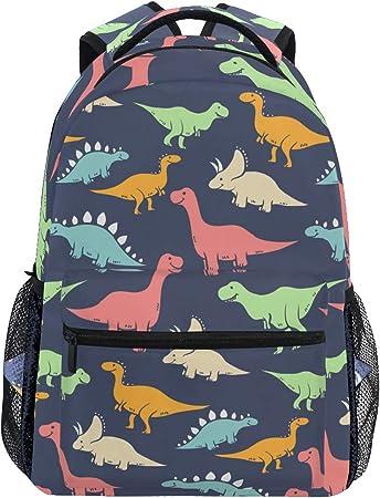 Rosa Personalizzata Dino Dinosauri T Rex Bambine Bambini Zaino borsa Scuola per Bambini