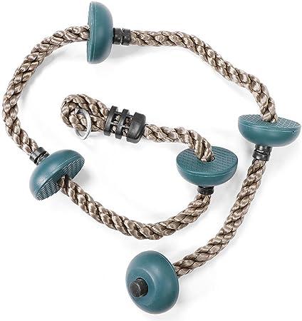 1.8 m 5 Escalada Cuerda, Cuerda para escalar Niños Patio de juegos de seguridad Juego de columpios de seguridad Reemplazo Herramienta de entrenamiento ...