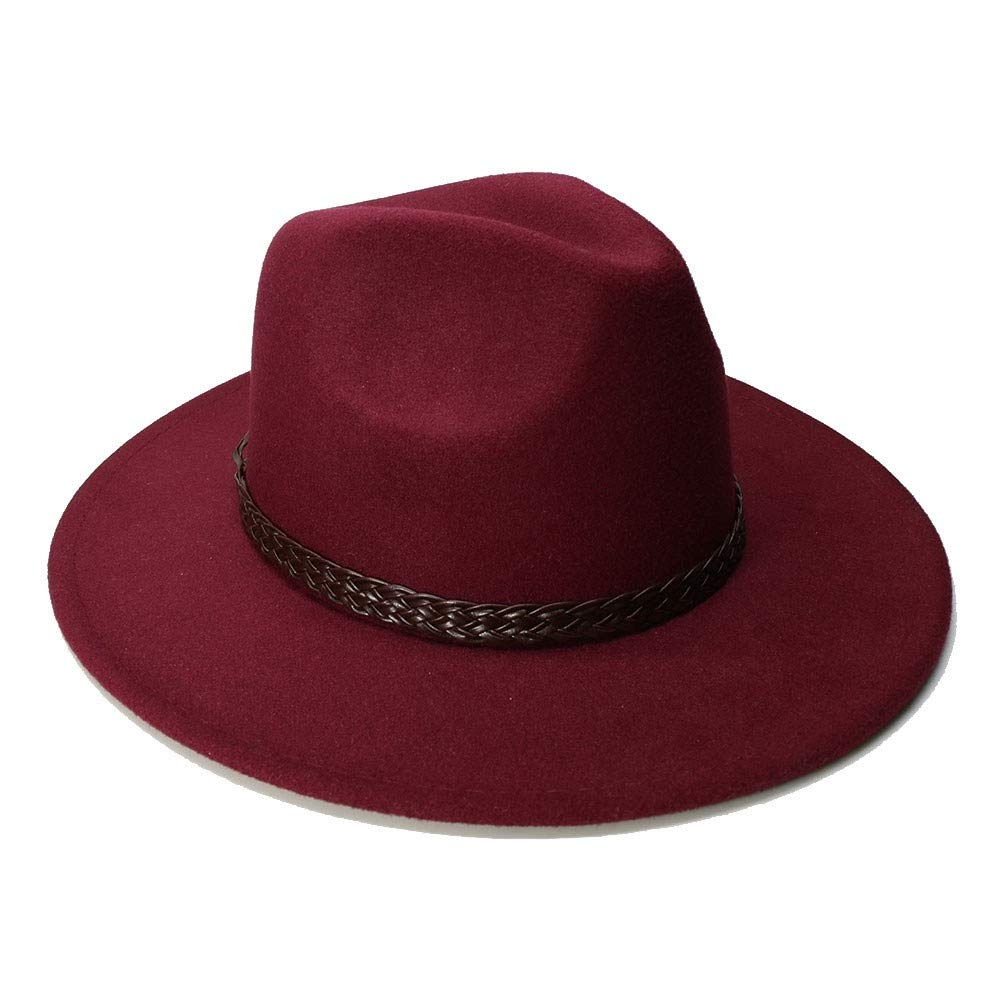 Autumn Winter Warm Felt Hats for Men Casual Solid Jazz Caps Gangster Trilby Cap Church Male Wool Fedora Hat hat