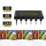 Galleon - HDMI Splitter 1 In 4 Out, HDMI HDCP Bypass
