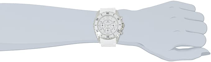 Amazon.com: Viceroy Womens 47562-05 White Ceramic Chronograph Rubber Watch: Watches