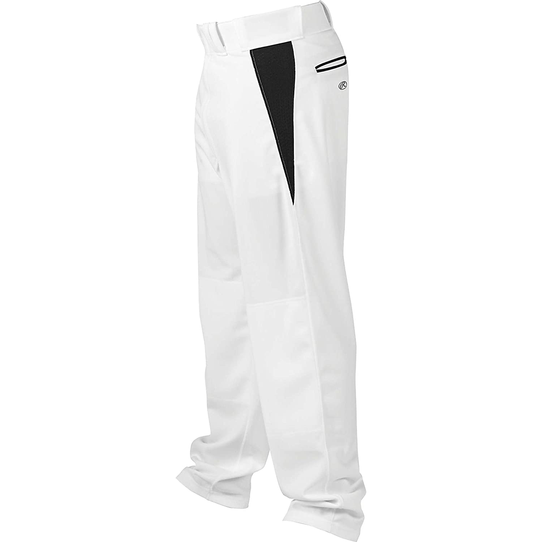 Rawlings ユース リラックスフィット V字型インサート 野球パンツ B00G3C3VTQホワイト/ブラック XL