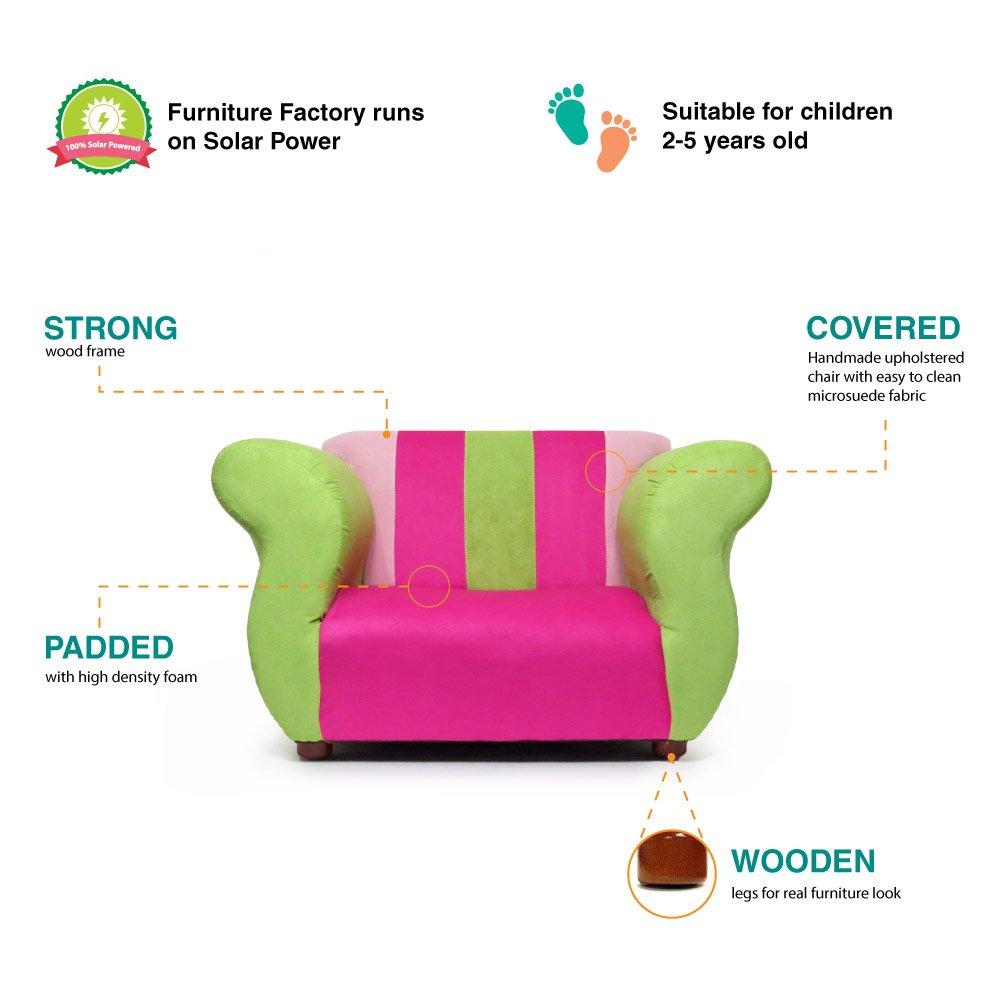 Amazon.com: keet Fancy silla, Silla club, Rosado/Verde: Baby