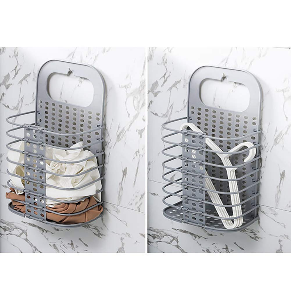 Sleepwear & Robes Clothing Surenhap Hanging Metal Baskets Hanging Wall Foldable Dirty Clothes Household Punch Storage Basket