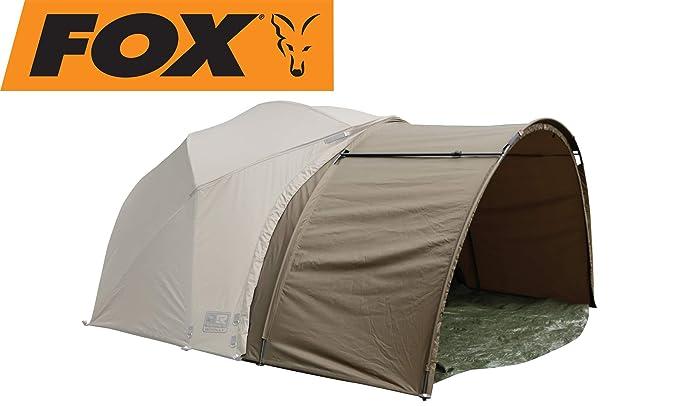 Angelzelt zum Karpfenangeln Fox R-Series Brolly System 262x178x128cm Karpfenzelt zum Ansitzangeln auf Karpfen Zelt f/ür Angler