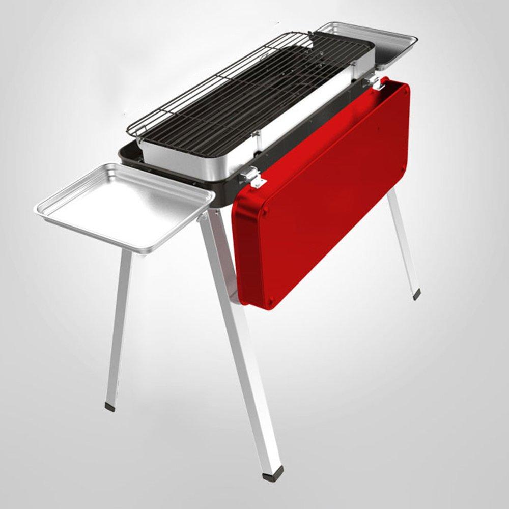 Huifang grills QFFL dainkaolu Grill-Ofen-tragbarer faltender Edelstahl-Grill-im Freiengrill verlängerte Grill-Grill 650  765mm