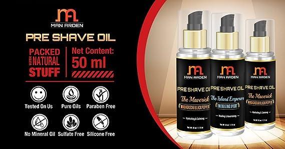 Hombre Arden Pre Afeitado aceite - la leyenda (Arabian Oudh) - relajante & Hidratante 50 ml - para un afeitado suave experiencia: Amazon.es: Salud y cuidado ...
