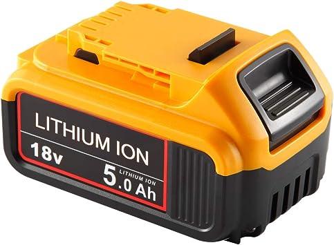 Topbatt 20V 5.0Ah f/ür Dewalt Akku 18V Lithium Ersatzakku DCB184 DCB200 DCB182 DCB180 DCB181 DCB182 DCB201