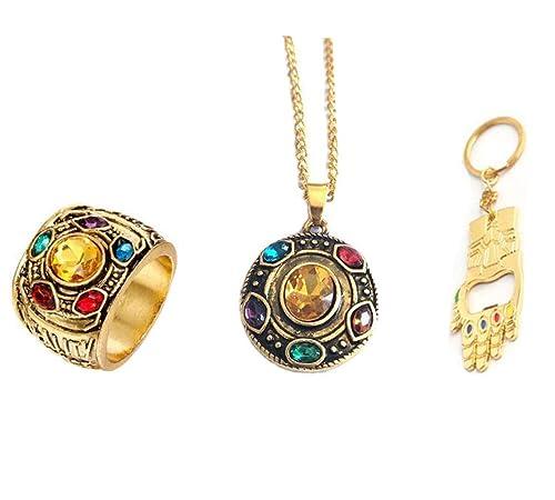Amazon.com: Paquete de 3 anillos de metal con diseño de los ...