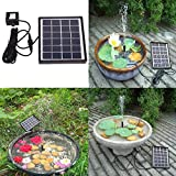 Solar Power Water Pump,SOONHUA Solar Panel Kit Water Fountain for Garden Pond Pool Birdbath Outdoor Decor
