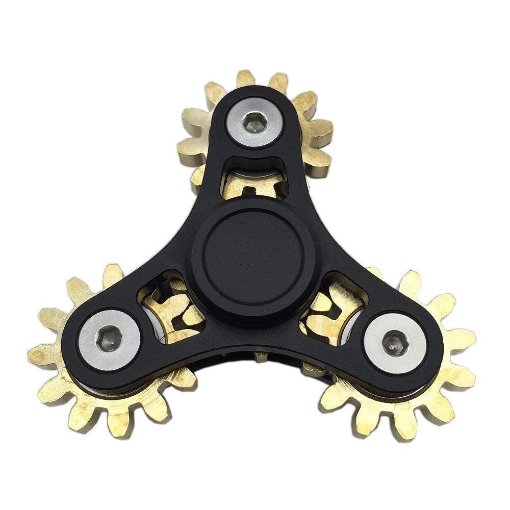 DoDoMagxanadu 4 Gear Fidget Spinner Metal Brass Linkage Metal Gear Hand Spinner Fidget Toy Relievers Stress and Anxiety Anti Depression Toy by DoDoMagxanadu (Image #1)