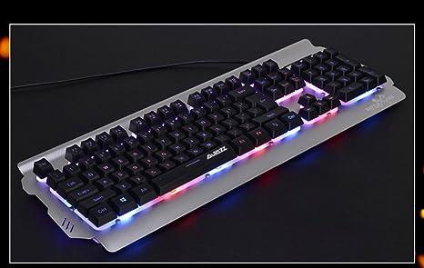 L&Y Teclados para gamers USB Wired Keyboard Sensación Mecánica De Un Teclado De Computadora De Escritorio