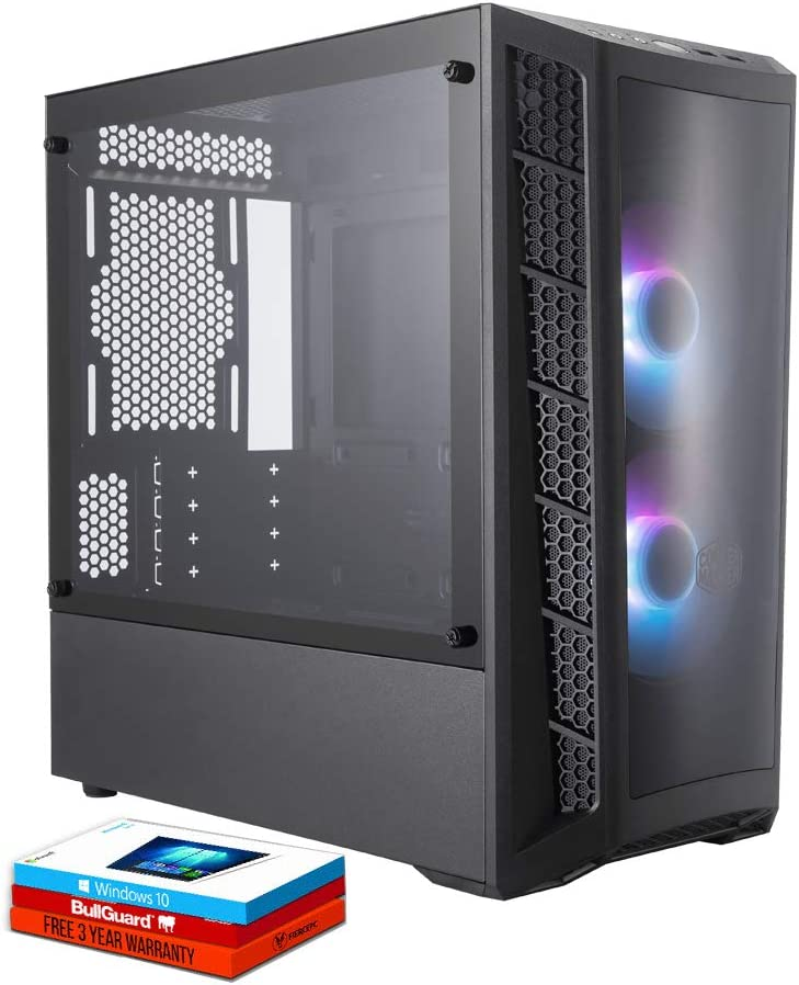 Fierce Crusader RGB PC Gamer - Rápido 3.9GHz Hex-Core AMD Ryzen 5 2600, 1TB Disco Duro, 16GB de 3000MHz, AMD Radeon RX 580 8GB, Windows 10 Instalado 1135729: Amazon.es: Informática