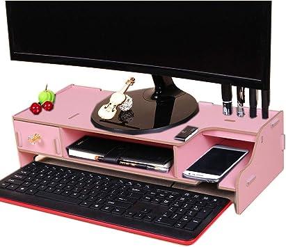 Monitor de Madera Organizador de Escritorio de computadora ...