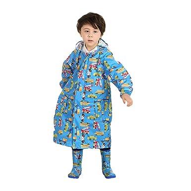 b437187cb76a12 Zhongke Unisex Mädchen Jungen Zipper Regenmantel Große Kapuze Regenjacke  Regen Cape Poncho Jacke Getriebe Wasserdicht Winddicht: Amazon.de:  Bekleidung