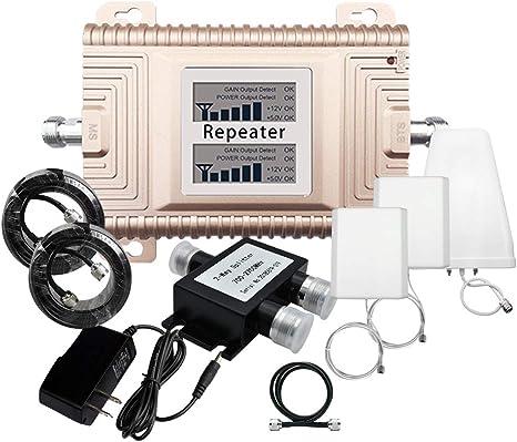 Pantalla LCD 850 2100mhz Repetidor de Banda Dual LTE Amplificador de se/ñal de tel/éfono m/óvil Repetidor de Refuerzo