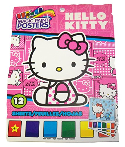 Savvi Hello Kitty Magic Paint Poster Book ~ 12 Posters (Kitty Snapshots Cover; 6