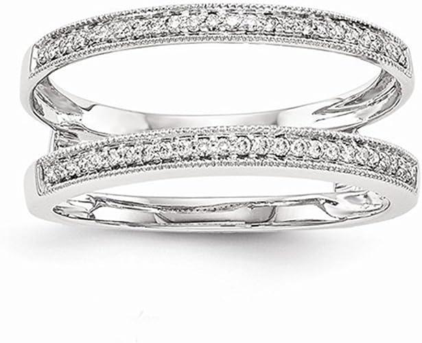 Enhancer Anniversary Wedding Wrap Band Ring Simulated Diamonds Solitaire Enhancer Wedding Guard Wrap Ring 0.75 Carat