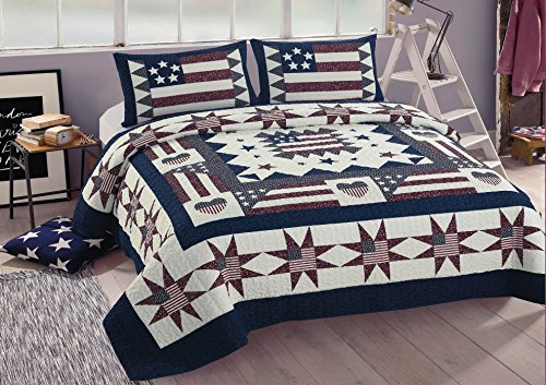American Hometex Great America King Quilt ()