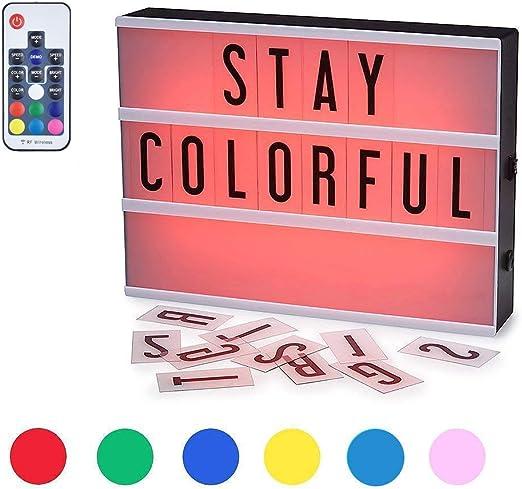 iZiv Caja de Luz LED, Caja de Luz LED A4, 210 Letras & Emojis ...