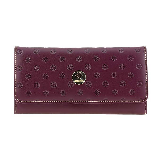 Cartera piel Vuitton de Amichi Talla: U Color: BURDEOS: Amazon.es: Ropa y accesorios