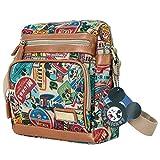 Disney Vintage Mickey Mouse Pattern Multi Purpose Cross Body Bag , Brown