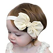 Miugle Baby Baptism Headbands Baby Girl Christening Hair Bows